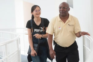 Xinyan Daisy Qiu, Eugene Williams, dean of the College of Education,