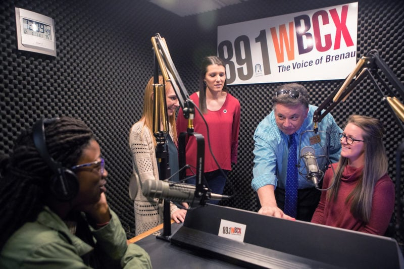 Nicole Vernon, Connie Oldmixon, Allie Smith, Director of Broadcasting Jay Andrews, Jasmine Brewster