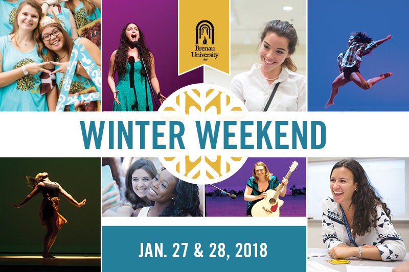 collage of events from past winter weekend events