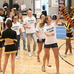 The Brenau Tennis team gets some love from their classmates as they are introduced during Thursday's pep rally.