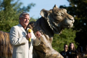 Cumming, Georgia, -based sculptor Gregory Johnson talks about the process behind designing and sculpting Brenau University's new one-ton, bronze tiger sculpture, Lucile.