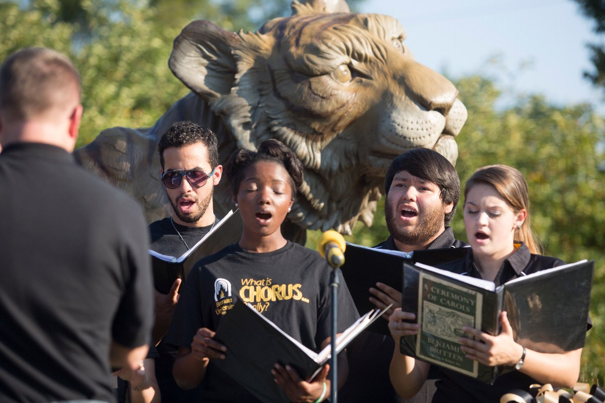 The Brenau Vocal Ensemble Singing Brenau's Alma Mater for the Tiger Dedication Ceremony