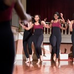 The Tau Sigma Dance Fraternity performs a celebratory dance during the winter convocation in remembrance of Dr. Martin Luther King Jr.