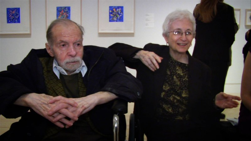 Herbert and Dorothy Vogel in 2008 visit first 50X50 exhibition at Indianapolis Museum of Art.