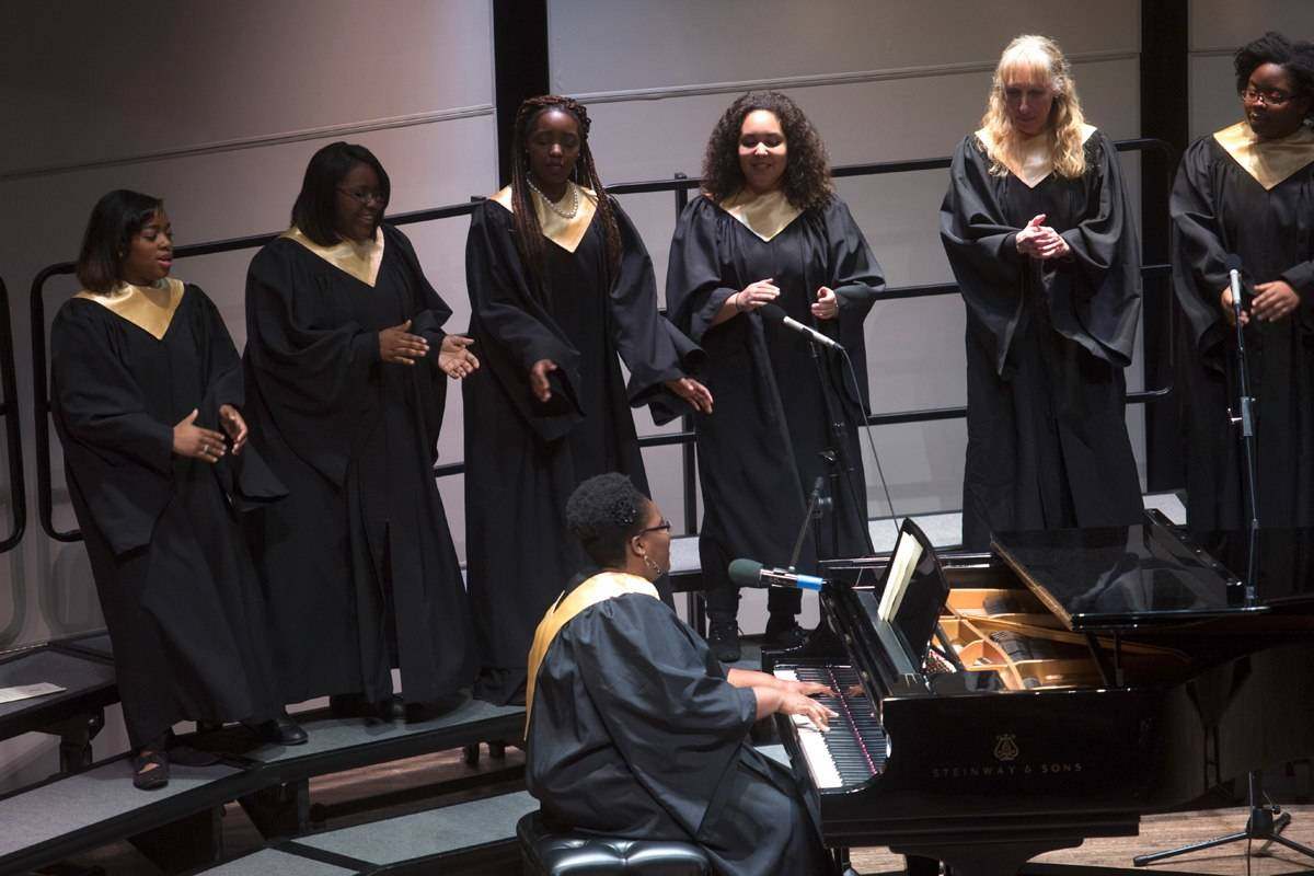 Brenau's gospel choir provided music and song during this year's Martin Luther King Jr. Convocation.