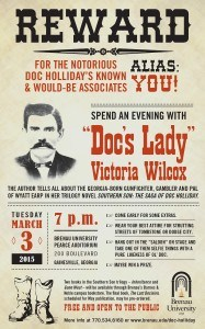 Victoria Wilcox Doc Holliday Event Poster