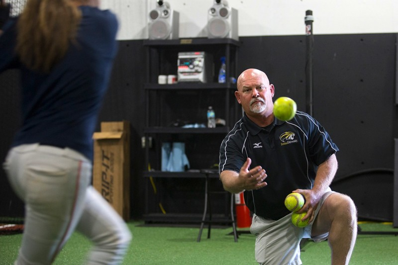 Gary Hatfield, the head coach of Brenau's new JV softball team and assistant coach of the varsity squad, is actively trying out and recruiting students for the new team.