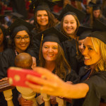 A group of nursing graduates take a photo during The Women's College Commencement on Friday, May 6, 2016, in Gainesville, Ga. (AJ Reynolds/Brenau University)