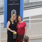 Lynn Jones, chair and professor, Interior Design Department, poses for a photo with Heidi Plumb, Master of Fine Arts in Interior Design graduate, during the M.F.A./M.I.D. Portfolio Exhibition at the High Museum of Art on Thursday, June 16, 2016, in Atlanta, Ga. (AJ Reynolds/Brenau University)