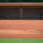 The dugout down the first base line. (AJ Reynolds/Brenau University)