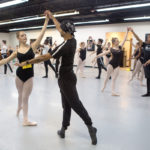 Peter Swan, a member of Brenau's dance faculty, partners with Katie Stanley during a ballet partnering class at Brenau's Day of Dance. (AJ Reynolds/Brenau University)