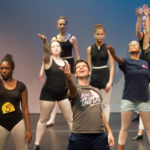 John Streit, affiliate faculty of dance, leads a musical theater dance class. (AJ Reynolds/Brenau University)