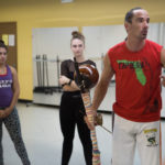 Tony DeMil leads a class on Capoeira as a part of Brenau's International Week.