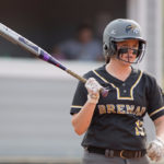 Brenau's Courtney Kenney walks up to the plate before an at bat. (AJ Reynolds/Brenau University)