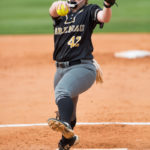 Brenau's Eli Daniel pitches to the plate. (AJ Reynolds/Brenau University)