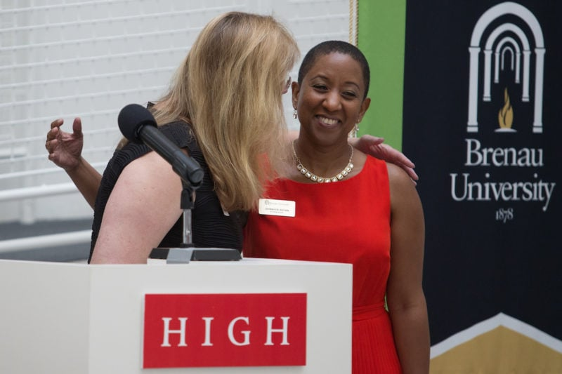 Lynn Jones Interior Design Department Chair Congratulates Johnnifer P Brown A Graduate