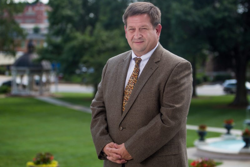 Brenau Provost and Vice President for Academic Affairs James Eck poses for a portrait. (AJ Reynolds/Brenau University)