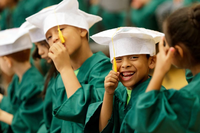 Children graduating