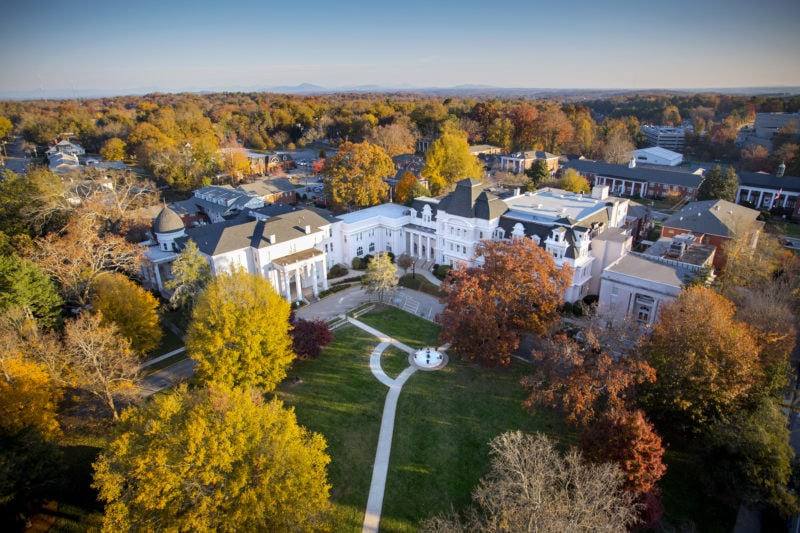 aerial view of Gainesville campus