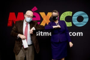 Javier Díaz de León and Dr. Anne Skleder after signing the agreement at the Mexican Consulate in Atlanta on Oct. 9th, 2020.