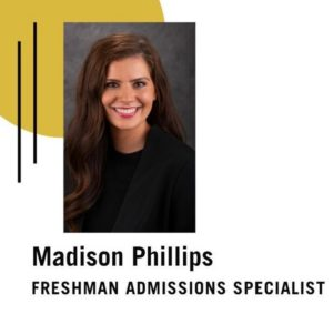 Madison Phillip's headshot for Admissions Specialist