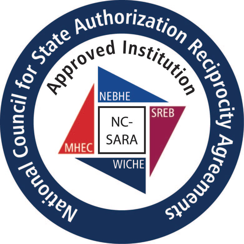 """National Council for State Authorization Reciprocity Agreements """"Approved Institution"""" logo"""